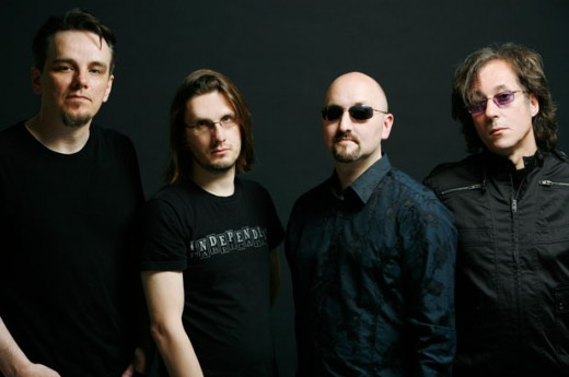 From left to right: Gavin Harrison, Steven Wilson, Colin Edwin, and Richard Barbieri