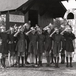 Girl Scouts of the 1940s.