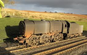 Heavily weathered Hornby Southern railway Class Q1 - who knows what livery was under this when it came out of the box. Effective, though!