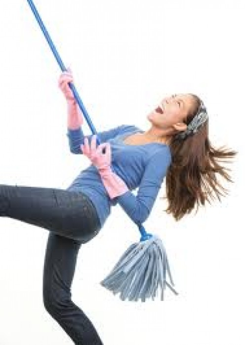 Speed cleaning is a quick option before company gets to the house.