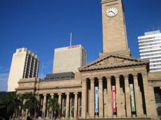 Brisbane City Hall exterior, seen from another point of view.