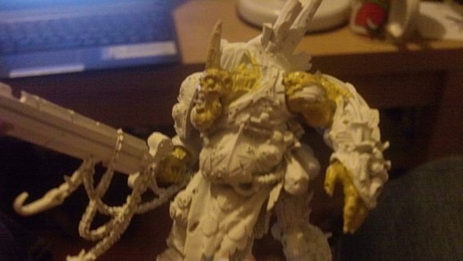 Then try and paint the other obvious skin areas with the same paint.