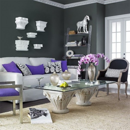 Go At It With Some Purple Décor