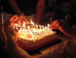 You know you're old when it takes more than one person to light the candles on your birthday cake.