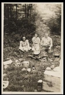 My grandmother and the rest of the gang camping out in the summer time!