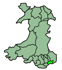 Map location of Newport, Wales