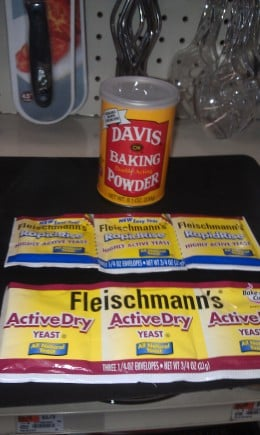 baking powder and active dry yeast