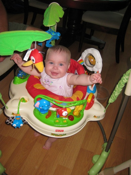 pic of baby in Rainforest Jumperoo bouncer