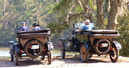 Hope you enjoyed your pictorial tour of the Sea Pines Forest Preserve. These motorists in antique classic cars really made me feel transported to a simpler, gentler era when roads were made of dirt and drivers meandered through fields and forests.