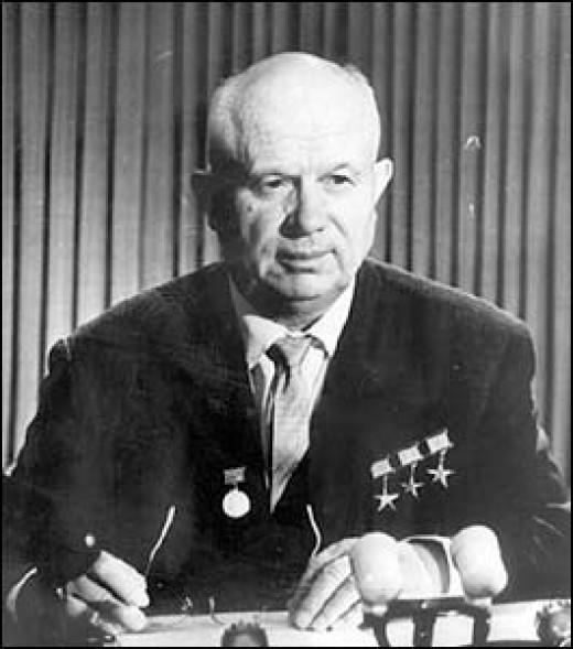 Khrushchev backs down