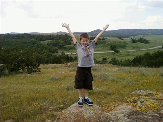This is my youngest son during a hike in the Wichita Mountains