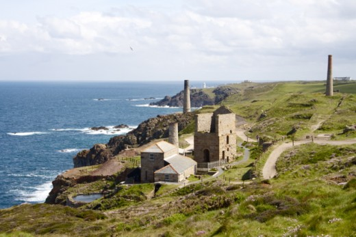 Levant Engine House, looking out to Pendeen Point.