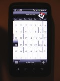 Fig 2 - HTC Calendar screen