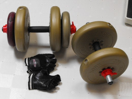 Dumbbells I use while watching TV.