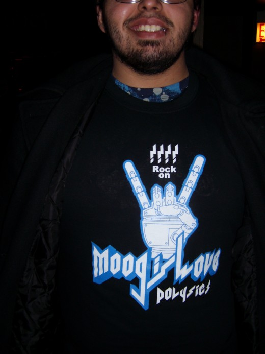 "My ""Moog is Love"" shirt i bought at the concert!"