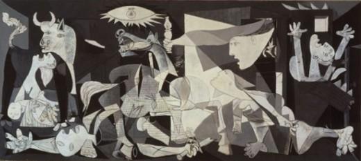 Guernica  1937  Reina Sofia Museum, Madrid, Spain.