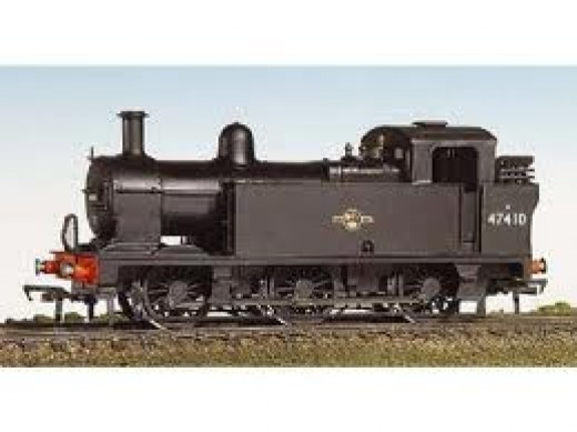 Bachmann LMS 'Jinty' BR Black (Henry Ford's favourite colour) - these were the LMSR's version of J71/J72, although often also rostered on stopping train workings