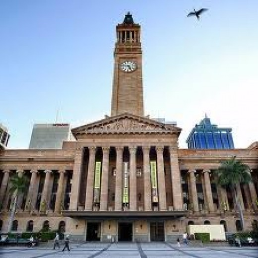Brisbane city Hall in George Square with its clock that chimes every quarter of an hour, one could say that this is the Big Ben of brisbane