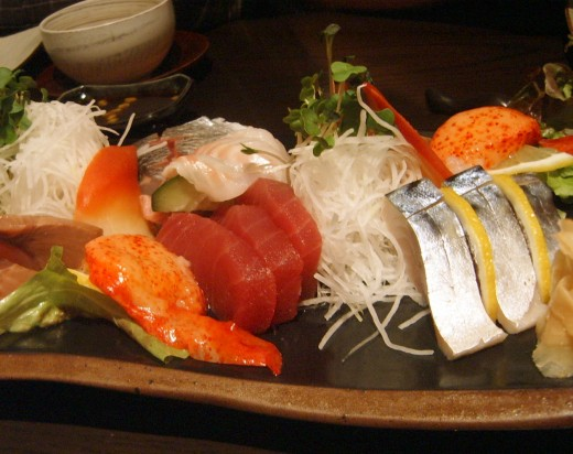 You can count on me to always use pictures of sushi to make the thought of eating fish more appealing to people