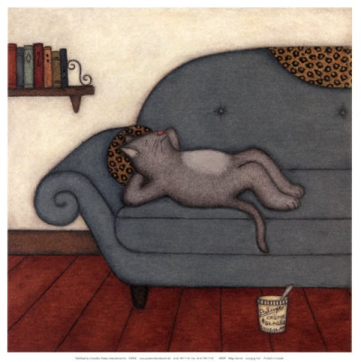 Lounging Cat - Helga Sermat