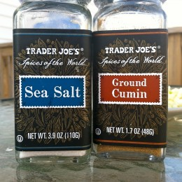 1 teaspoon sea salt; 1/4 teaspoon cumin