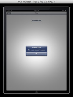 iOS 5 | How To Use the UIAlertView in iPad or iPhone Application