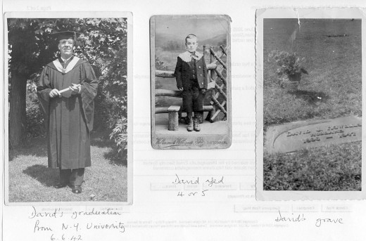 My uncle, as a small boy in Wales, and at his graduation in Rochester, NY.