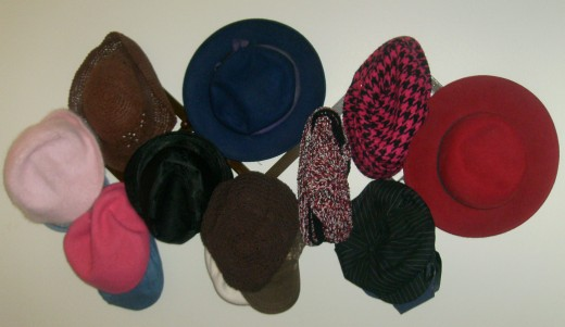 My hat rack. And there are more where that came from!