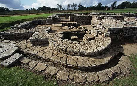 Ruins at the Roman Fort, Vindolanda