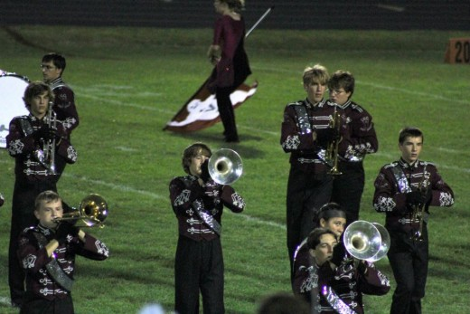 Marching band Playing at football games-What fun they had