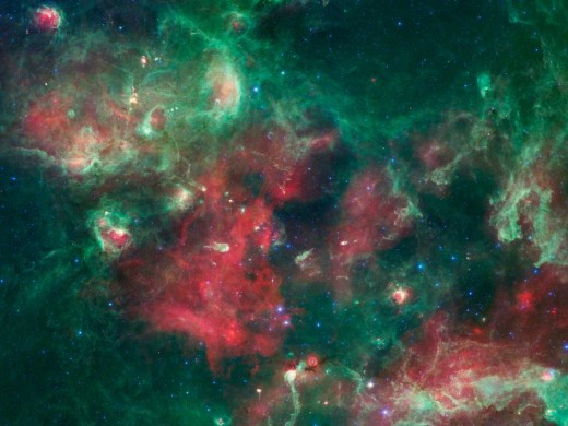 New stars forming in a region of our Milky Way.