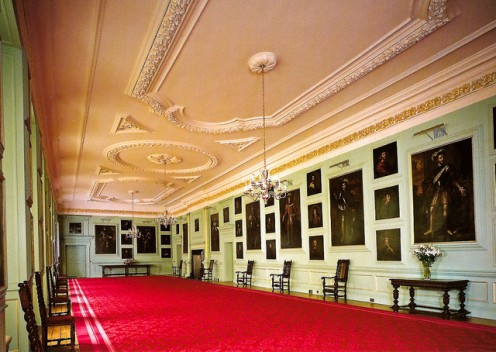 The Great Gallery with the portraits of Scottish Kings by Jacob de Wett