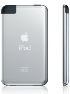 The antenna on the back of the original iPod Touch covered the entire upper-left corner.
