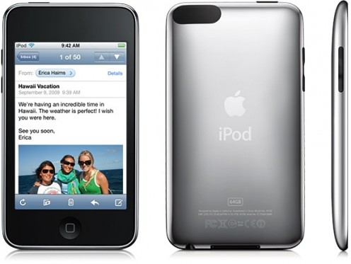 The third-generation iPod Touch is only available in 16 and 32 GB models.