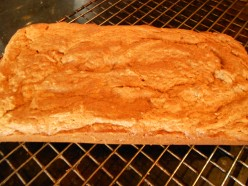 Wheat and Gluten free low carb peanut or almond butter bread