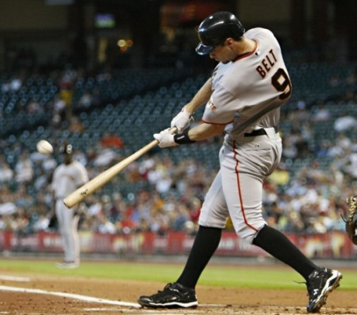 Brandon Belt hitting one out for the Giants
