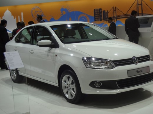 Delhi auto expo 2012 displaying Volkswagen Vento