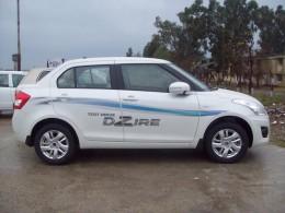 Swift Dzire Test Drive Vehicle - side view