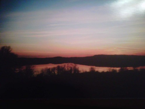 Sunset at Moraine State Park