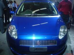 Fiat Punto Electric Blue - auto expo 2008 New Delhi- old pic