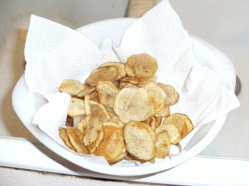 Home Made Crab Chips