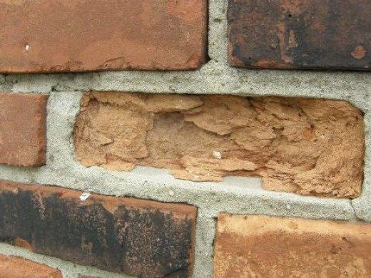 Example of a spalling brick