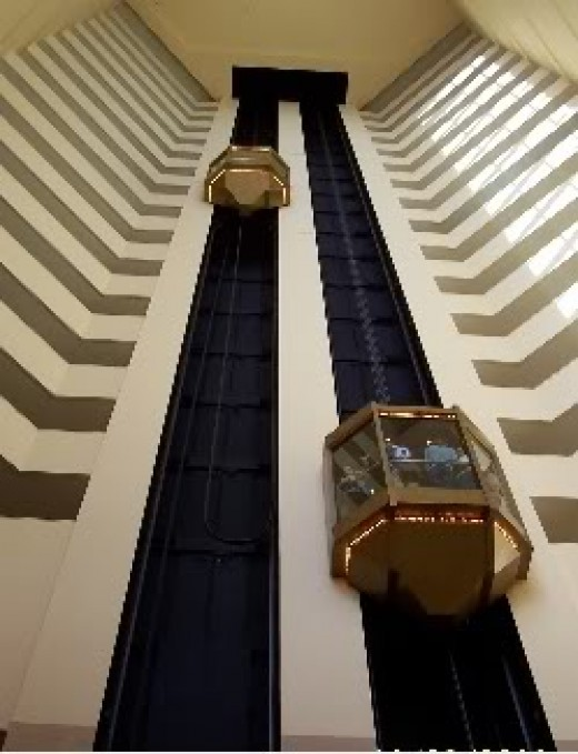 Elevators go up and down