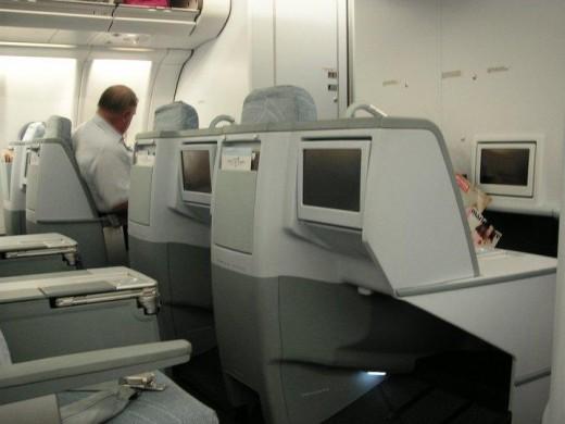 Finnair's Business class cabin in their A330-200