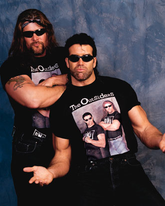 "Kevin Nash & Scott Hall as ""The Outsiders"""