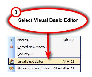 Figure 3. Visual Basic Editor