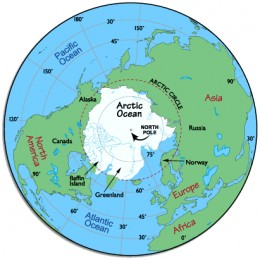 Arctic ocean measures 5,427,000 sq. miles is the world's smallest ocean. An ocean is a body of salt water which covers more than 3/5 of the surface of the globe