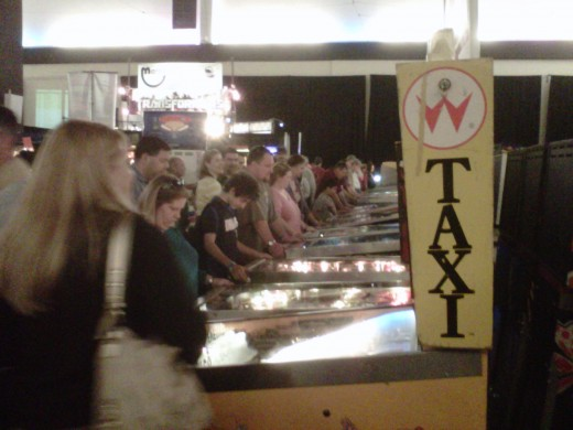 Friday and Saturday were wall-to-wall people at the Texas Pinball Festival, 2012.