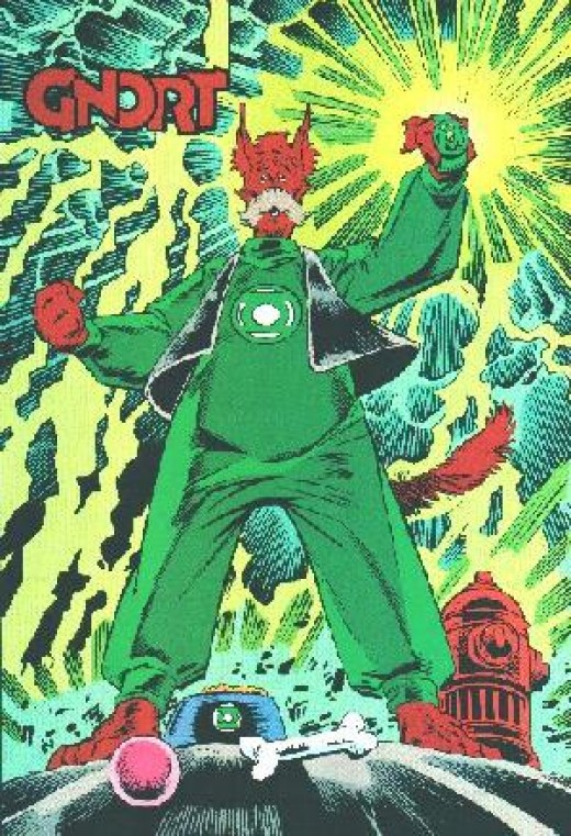 G'Nort - Fake Green Lantern Doggie