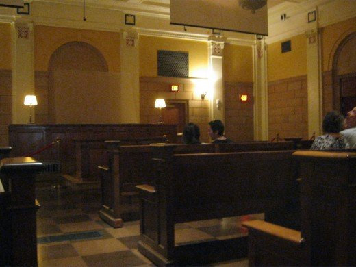 The courtroom where one of the famous Kefauver hearings was held here in Las Vegas.